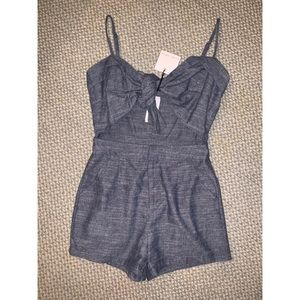 NWT LF Bow Tie Cut Out Romper